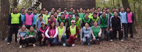 3月30日上海佛吉亚红湖排气管系统有限公司2014拓展培训