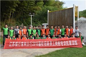6月29日 江苏银行常州分行2018届校招新员工如之前拓展培训